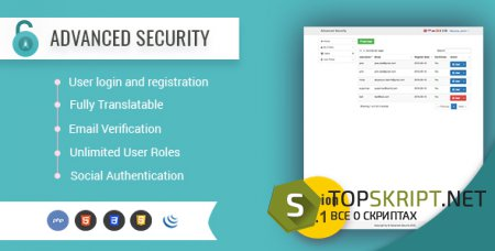 Advanced Security - PHP Register/Login System v2.1