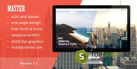 Master — One Page HTML 5 Portfolio Template